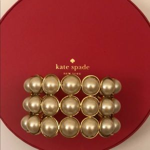 Kate Spade pearl gold band bangle bracelet [New]